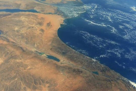 Randy Bresnik photo of Israel from space station 2017 sm